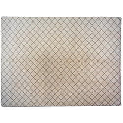 Crossed Lines Cream Wool Area Rug