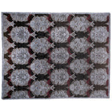 Dark Gray Damask-Look Area Rug