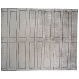 Silver and Black Blocks Area Rug