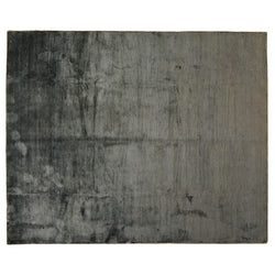 Charcoal Wool and Silk Area Rug