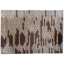 Brown Cobblestones Area Rug