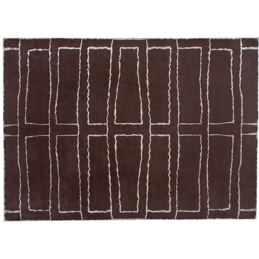 Chocolate and Cream Lines Area Rug