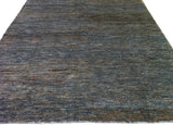 Blue and Brown Jute Area Rug