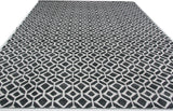 Charcoal and Ivory Pattern Rug