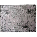 Silver and Lilac Abstract Rug