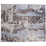 Abstract Light Blue, Taupe and Beige Rug