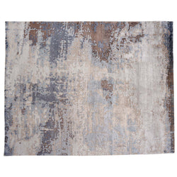Abstract Beige, Blue and Brown Rug