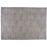 Gray Geometric Design Rug
