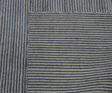 Denim Blue Stripe Area Rug