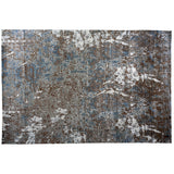 Blue and Taupe Abstract Area Rug