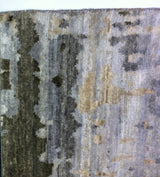 Silver and Tan Abstract Area Rug