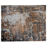 Caramel, Charcoal and Ivory Abstract Area Rug