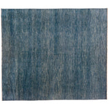 Blue and White Patchwork Look Area Rug