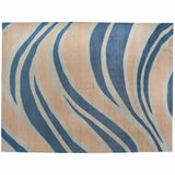 Blue Wave Wool Area Rug