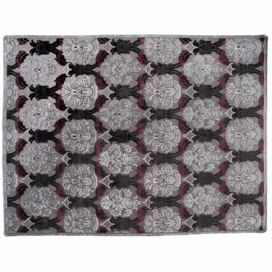 Gray and Silver Damask Rug