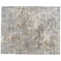 Taupe Abstract Design Rug