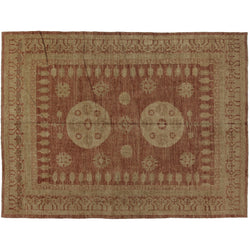 Rust and Brown Khotan Rug