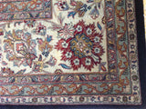 Brown Floral Traditional Style Wool Area Rug