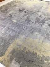 Beige, Blue and Yellow Abstract Area Rug