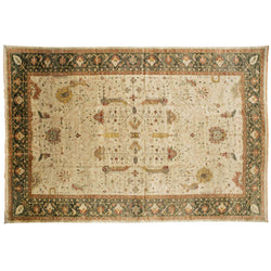 Ivory and Green Rug