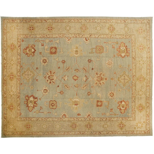 Beige Turkish Oushak Rug