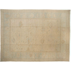 Beige Floral Turkish Rug