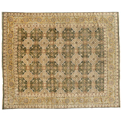 Green and Gold Oushak Rug