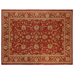 Red Traditional Style Wool Area Rug