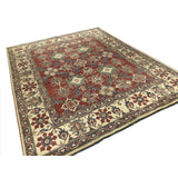 Red and Blue Pakistani Rug