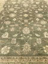 Gray and Ivory Floral Rug
