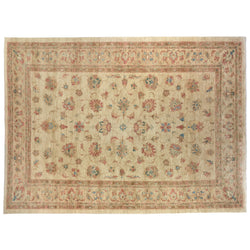 Beige Floral Traditional Style Rug