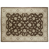 Brown Traditional Style Wool Area Rug