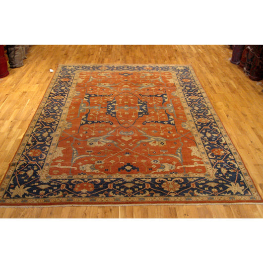 Dark Blue and Red Traditional Pakistani Rug