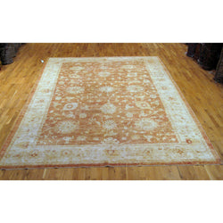 Rust and Ivory Floral Design Rug