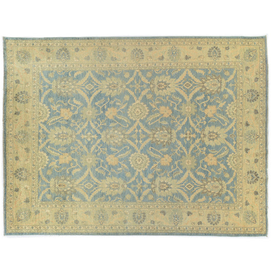 Teal and Gold Pakistani Rug