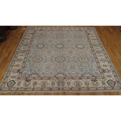 Light Blue and Beige Pakistani Rug