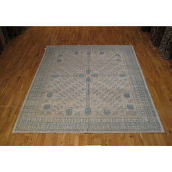 Beige and Blue Pomegranate Design Rug