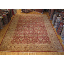 Brown and Rust Floral Rug