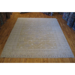 Brown and Ivory Pomegranate Design Rug