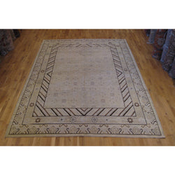 Beige and Brown Khotan Rug