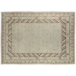 Beige and Brown Khotan Style Rug
