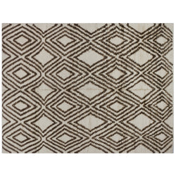 Brown and Cream Diamonds Moroccan Area Rug