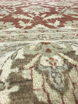 Beige and Red Pakistani Rug