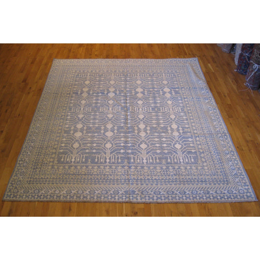 Blue and Ivory Pomegranate Design Rug