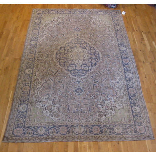 Blue and Beige Multi Overdyed Rug