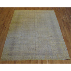 Vintage Green Overdyed Rug