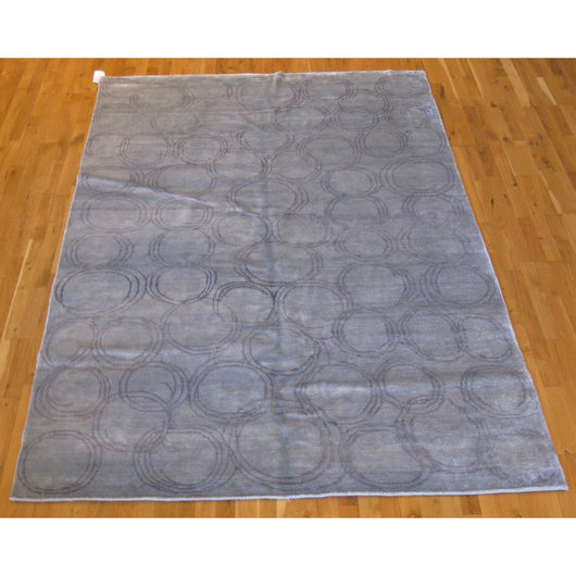 Light Blue Rings Rug