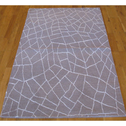 Gray Cracked Glass Rug