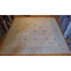 Light Blue and Ivory Turkish Rug