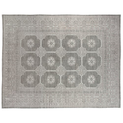 Royal Ziegler Style Grey Wool Area Rug